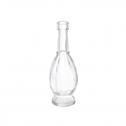CLEAR GLASS VINTAGE BOTTLE VASE 5 X 16CM